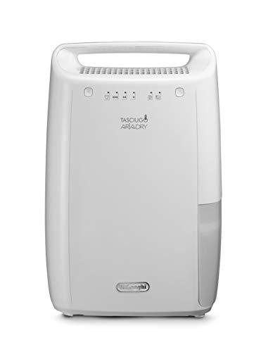 De'Longhi DEX210 AriaDry Déshumidificateur d'air pour maison, 267 W, 10 litres, 37 décibels,...