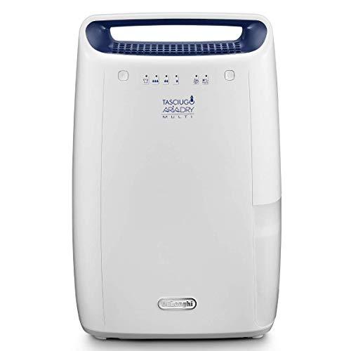 De'Longhi DEX212F AriaDry Déshumidificateur d'air pour maison, 300 W, 12 litres, 37 décibels,...