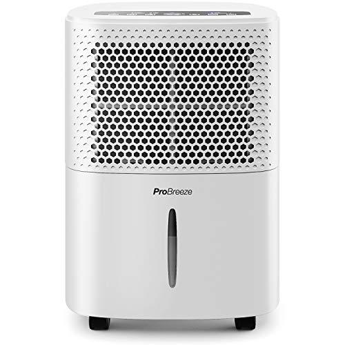 Pro Breeze Déshumidificateur Portable 12 L | Compresseur d'air | 4 Modes | Affichage numérique |...